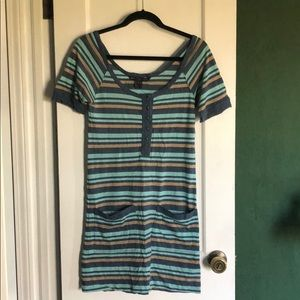 Multicolor Stripped Cotton Dress